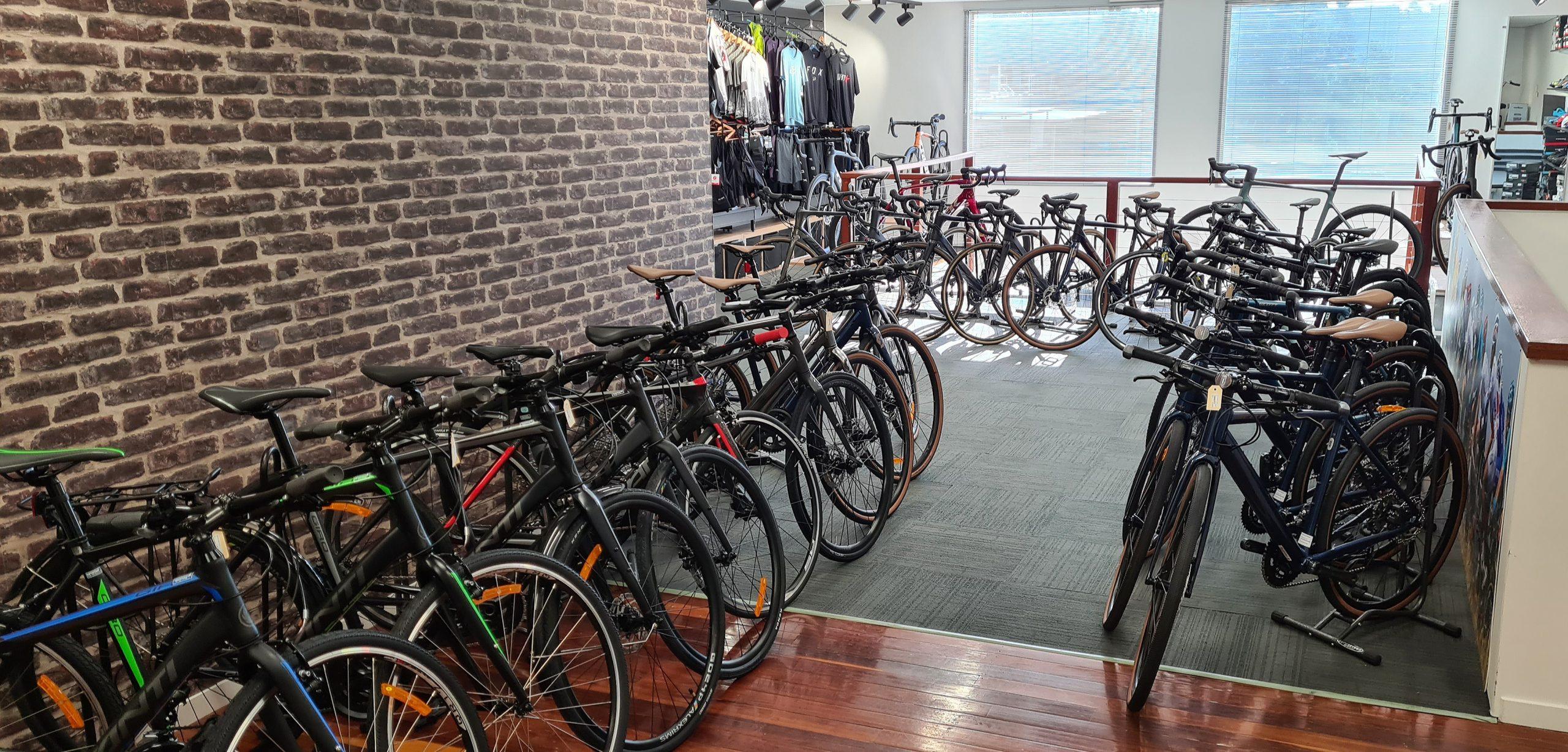 Bicycle brands display