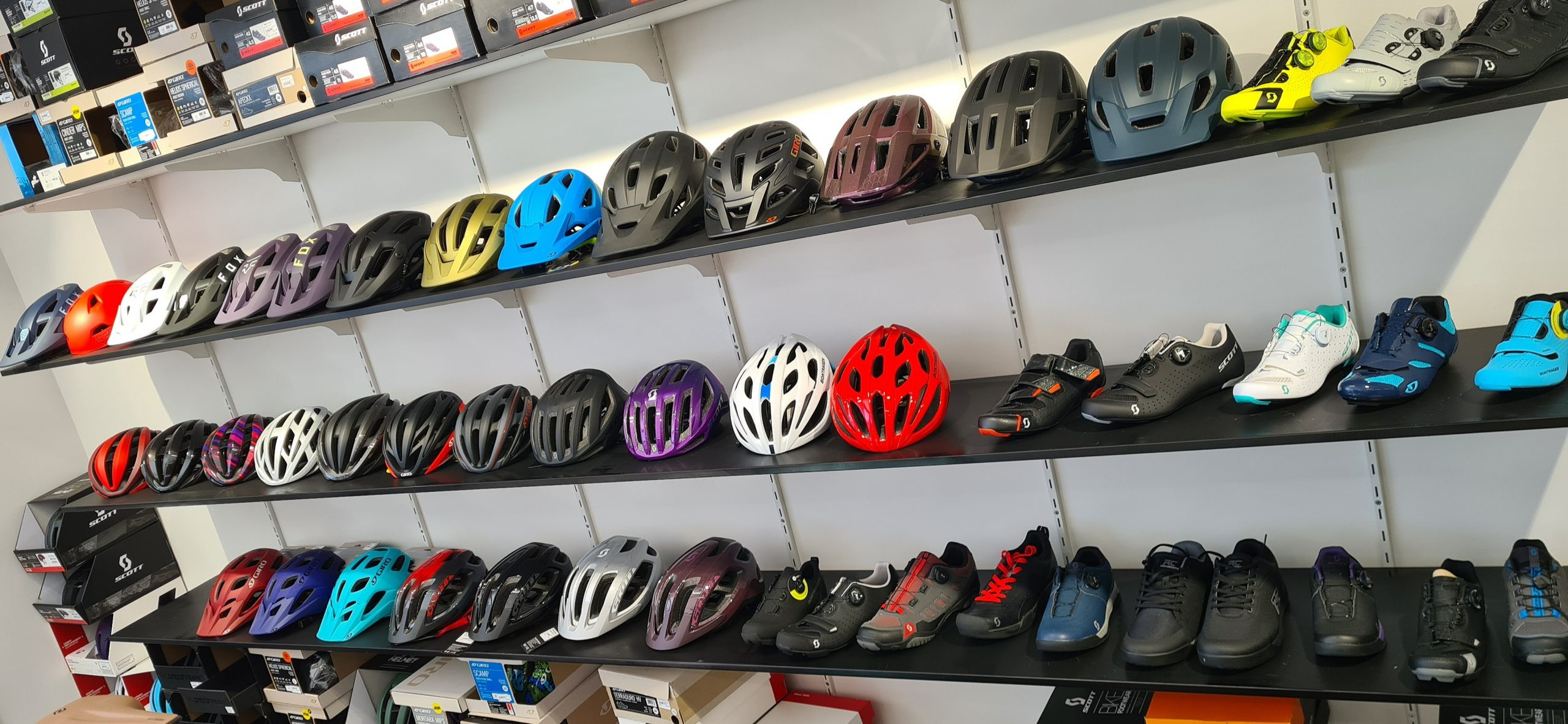 Helmets and shoes